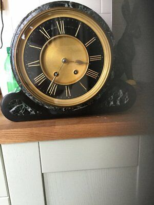 A  RARE JOHN WALKER  10 INCH DIAL  MARBLE AND  SLATE 19th CENTURY  MANTLE  CLOCK