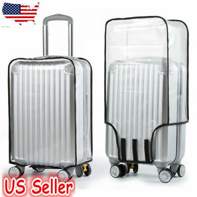 20/22/24/26/28/30 inch Clear PVC Plastic Luggage Cover Suitcase Protector Covers