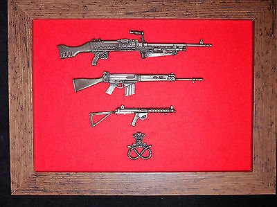 Commemorative Staffordshire Regiment framed 1/6 scale weapons