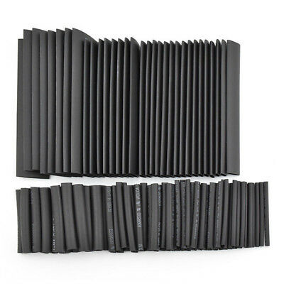 127pc Black Heat Shrink Tube Tubing Cable Insulation Electrical Wrap