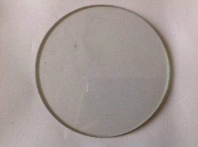 Clock Glass Bevelled Flat Round 130mm 3.5mm BevelClockmakers Spare Part