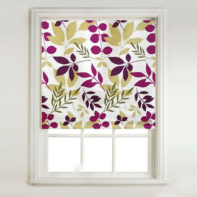 Demi - Lime Green & Purple Thermal Blackout Roller Blind, METAL BRACKET FITTINGS
