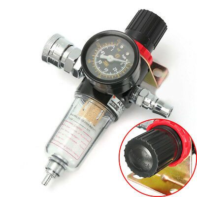 """1/4"""" AFR2000 Air Compressor Oil Water Mayitr Fittings with Trap Moisture Gauge"""
