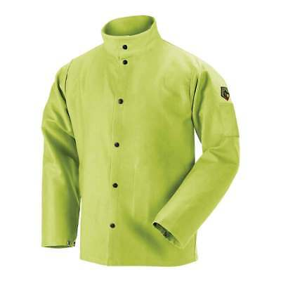 Black Stallion FL9-30C TruGuard 200 FR Cotton Welding Jacket, Lime, Large