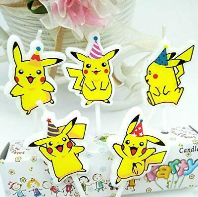AEX Mini Figure Candle 5pcs Cake Decoration Birthday Special Event (Pikachu)