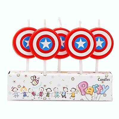 AEX 5pcs Avengers End Game Captain America Mini Figure Birthday Candles