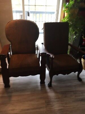 Pair Of matching Morris chair Recliners