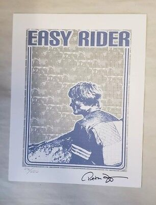 Easy Rider Blotter Art signed by Actor Peter Fonda #236/250 psychedelic art