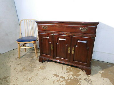 Vintage Ethan Allen Georgian Court Cherry Wet Bar Buffet Server Record Cabinet