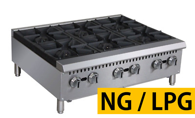 "Pantin 36"" Commercial 6 Burner Countertop Gas Range Hot Plate NSF 180,000 BTU"