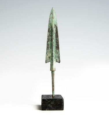 Fine large Ancient Luristan bronze arrow point c 1000 BC pre Greek.