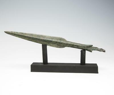 Large Luristan bronze spear point: Near East Pre Greek weaponry: 900 BC