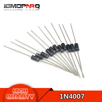 100pcs/lot 1N4007 IN4007 4007 1A 1000V original Diode Rectifier quality High