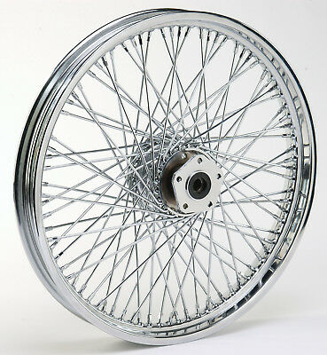 """Ultima Chrome 60 Spoke 21""""x 2.15"""" Front Wheel for Harley Softail & FXDWG 84'-99'"""