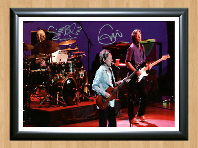Eric Clapton Ginger Baker Signed Autographed A4 Photo Poster Memorabilia ticket