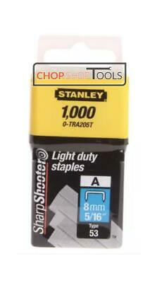 Stanley 0-TRA205T Type 53 Light Duty Staple 8mm x Pack of 1000 STA0TRA205T