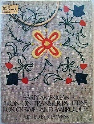 Early American Iron on Transfer Patterns for Crewel & Embroidery 75 designs