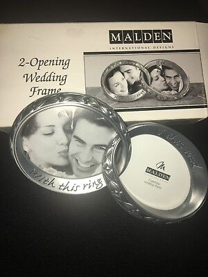 Malden Engaged Wedding Rings Picture Photo Frame NEW Pewter small