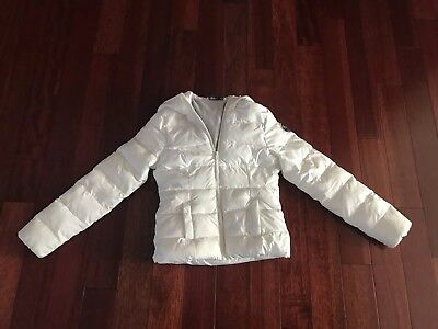 Abercrombie Kids Girl's M, White Puffer Jacket, Great Condition, Warm And Cozy!!