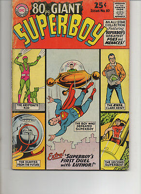 80 Page Giant 10 Superboy Fine 1965 Dc Silver Age Comic