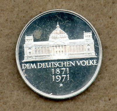 Germany 10 DM Silver 1998 BU 300 years Frankische foundation Coin in Capsule