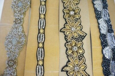Wholesale lot of 4 India embroidered belt  handmade belt High Quality New