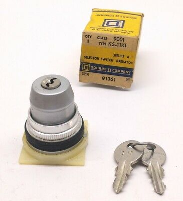 Square D Class 9001 Type KS-11K1 Series A 2-Position Selector Switch With Keys