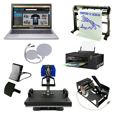 Sublimation Business Start Up Kit Heat Press Printer Vinyl Cutter with Training
