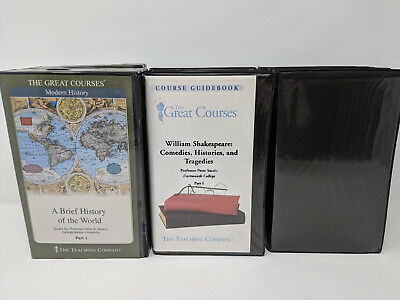 Great Courses Cassette Lot - Brief World History, From Yao to Mao, Shakespeare