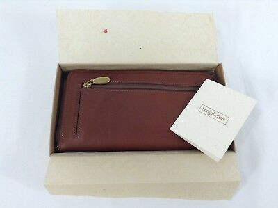 Longaberger Country Estates Leather Wallet Made in USA