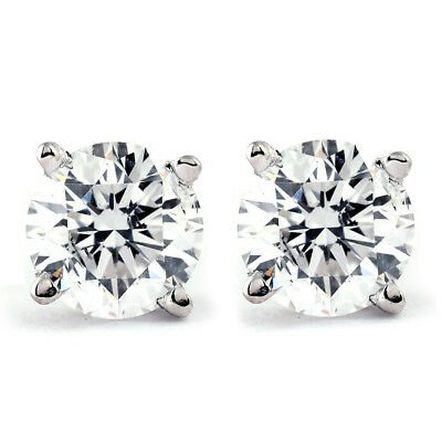 1 CT. T.W. Genuine White Diamond Studs 10K White or Yellow Gold