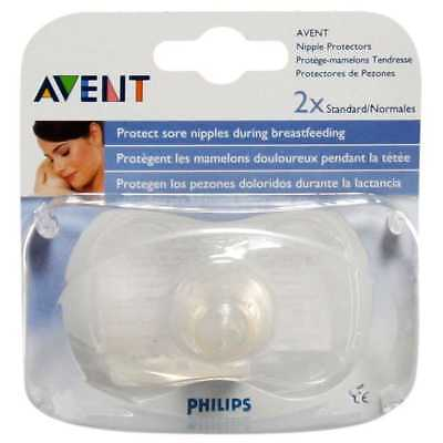 Philips Avent Nipple Protectors 2x Standard Protects Sore Nipples Brand New