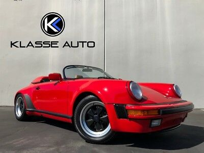 1989 911 Speedster 1989 Porsche 911 Speedster 5 Speed Only 8,900 Miles Original Paint Collector Car