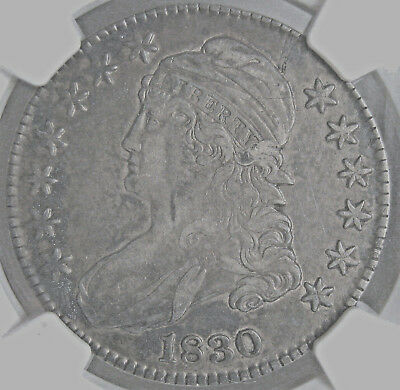 1830 Capped Bust Half Dollar~Ngc Certified Vf35~Attractive With Sharp Detail *