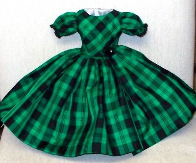 "20""   CISSY.  Miss REVLON  FASHION  Clothes   HOLIDAY  PLAID  TAFFETA  DRESS  #3"