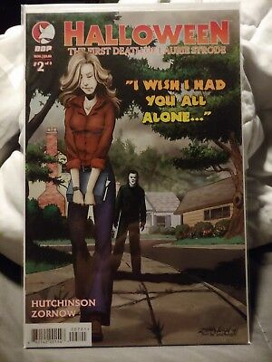 Halloween Comic book the first death of Laurie Strode cover 2A unread condition