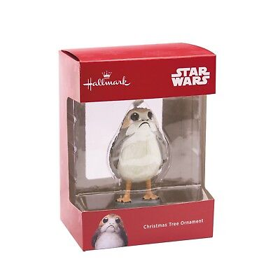 Hallmark 2018 Star Wars Porg Christmas Tree Ornament Red Box ~ Nib! *