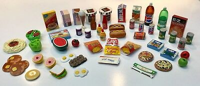 Dollhouse Miniature Food and Groceries 57 Piece Lot