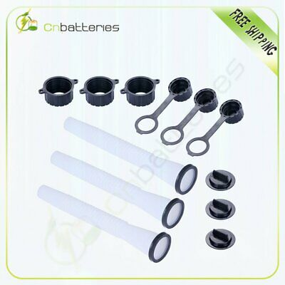 3 Sets Replacement Gas Can Spout Part Kit Stopper Vent Cap Gasket Fuel Container