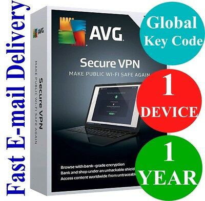 AVG Secure VPN 1 Device / 1 Year (Unique Global Key Code) 2019