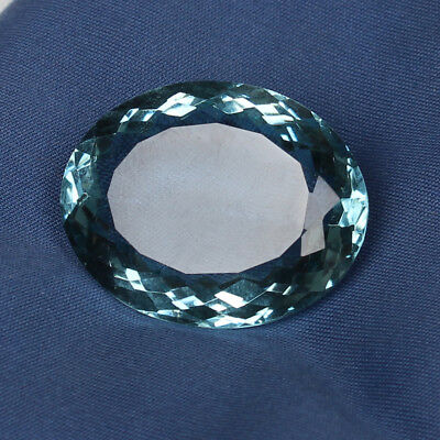 54.50 Ct. Natural Aquamarine Greenish Blue Color Perfect Oval Cut Loose Gemstone