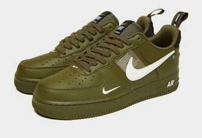Nike Air Force 1 07 Lv8 Utility Low Olive Green White Men S