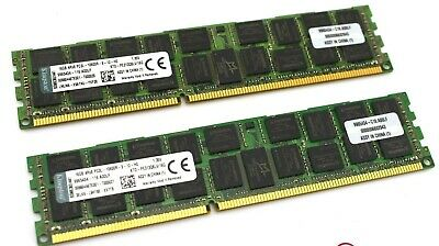 Kingston 32Gb Kit (2X16Gb) 4Rx8 Pc3L-10600R Ecc Server Ram Ktd-Pe313Q8Lv/16G