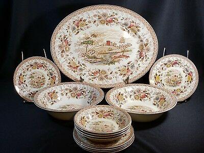 Ridgway 1792 Woodland china 13 piece Made In England. Great Condition