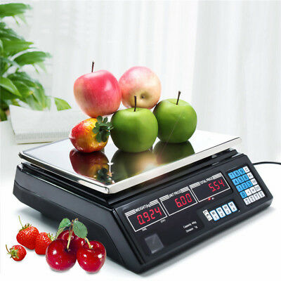 Digital Electronic Price 40kg Fruit Veg Shop Retail Weigh & Price Scale UK POST