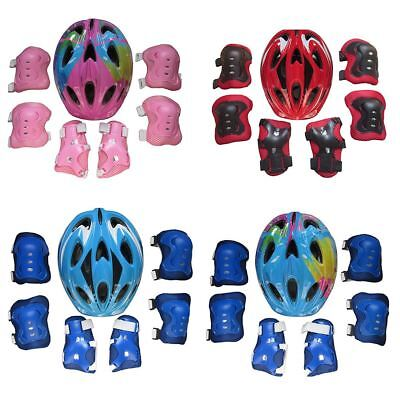 7Pcs Children Thicken Protective Gear Helmet Knee Pad Set for 5-13 Year