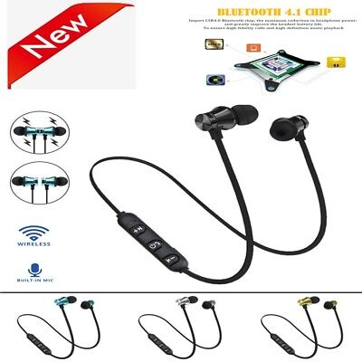 Wireless Bluetooth 4.1 Stereo Earphone Headset Magnetic In-Ear Earbuds Headphone