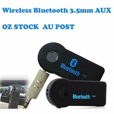 Wireless Bluetooth 3.5mm AUX Audio Stereo Music Home Car Receiver Adapter JC