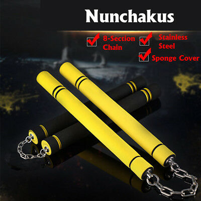 Safety New Nunchaku Martial Arts Foam Nunchucks Sponge Stick Bruce Lee Training