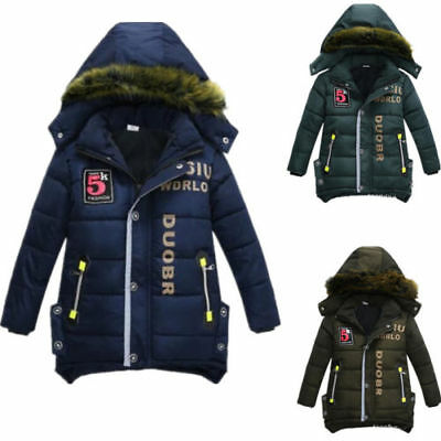 Junge Kinder Dicker Mantel Cartoon Warme Winterjacke Hoodie Sweatjacke Mantel DE